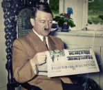 Hitler reads the newspaper by KraljAleksandar