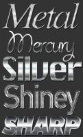 Precious Metal Text Styles by xstortionist