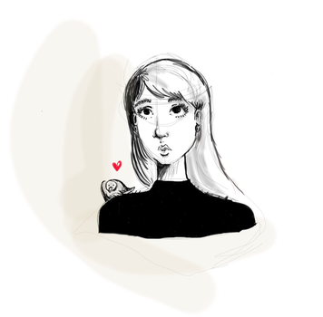 First test with graphic tablet by christelleriou