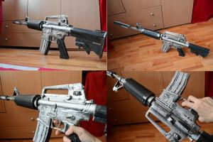 Crossfire M4A1-S Silver Papercraft 2 by svanced