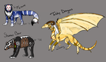 Mixed Adoptables - One Left by TwilitTiger