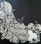 Koi in Black and White by ArtOfKelliRenee