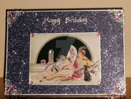 Art Deco Beauty Birthday Card for Jane by blackrose1959