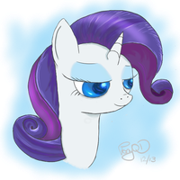 Rarity Bust by GlacialFalls