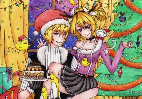Happy b'rthday and Chrismas!! by lolitaKagamine