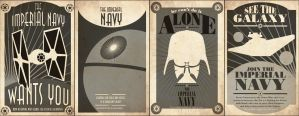 Imperial Navy Posters by captain-cavishaw