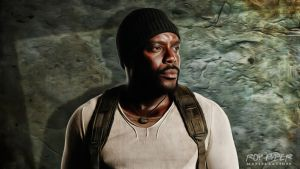 TWD: Tyreese Williams: Anisotropic Paint Desktop by nerdboy69