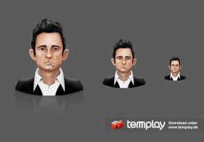 Johnny Cash Fan Icon by templay-team