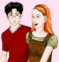 Harry and Ginny :Art Trade: by girl2004
