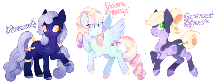 MLP adoptable auction - crystal ponies! (CLOSED) by tsurime