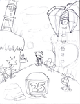 Sonic 25th Anniversary (Work in Progress) by SuperSonicBros2012