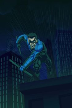 Nightwing-v2 by LazaroRuiz