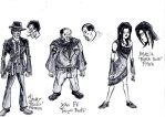 Sketches: Gang 1 by SonsOfRadiationComic
