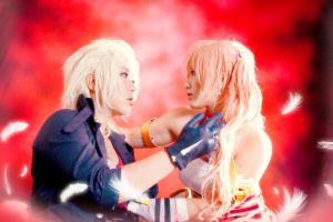 Final Fantasy XIII-2 - Serah X Snow by crystalfirey