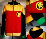 BATMAN AND ROBIN: damian wayne hoodie (2nd ver) by envylicious
