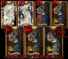 9 The Hermit - Tarot Card WIPS! by Cupcakes-lover