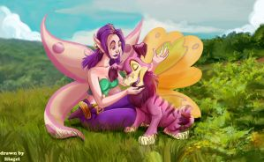 Ogrin And Battle Faerie by gundunim