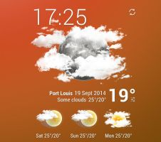 Purity Clock Weather HD 2 for xwidget by jimking