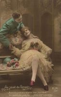 vintage romantic couple IV by MementoMori-stock