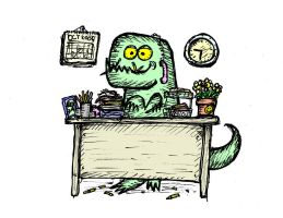 Office Monster by billiambabble
