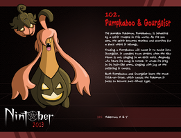 Nintober 102. Pumpkaboo and Gourgeist by fryguy64