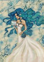 Bride under water by FuranBi