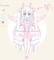 -CLOSED- [Adoptable] Angel bunny by Seraphy-chan