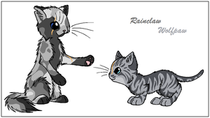 Trade - Rainclaw and Wolfpaw by WildpathOfShadowClan