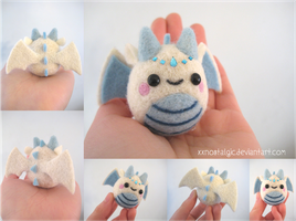 Felted Ice Queen Dragon by xxNostalgic