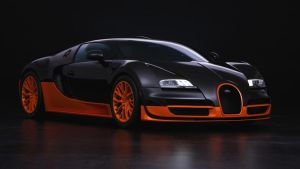 Black/Orange Bugatti (Front) by Apexx-iPredator
