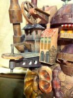 Howl's Castle Wheel Detail by Dreamparacite