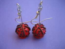 Chocolate Candy Apple Earrings by ClayMyDay