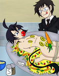 Blue Exorcist: A meal for Yukio by AaronScales15