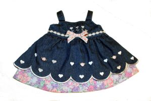 CARAUT- ALTERED: Baby Denim Jumper , size 3m-6m by Caraut