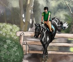 Woodland Workout by SilverBrooke-Stables