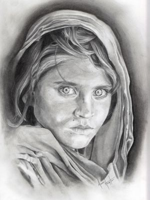 Afghan Girl by Samirakate