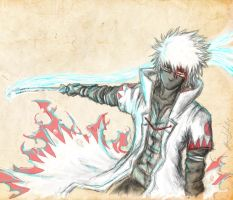 Kakashi : Red and Blue by Abz-J-Harding
