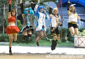 Vocaloid cosplay by kuso-taisa