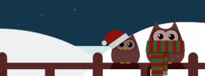 Christmas Owls by Coral-Ann