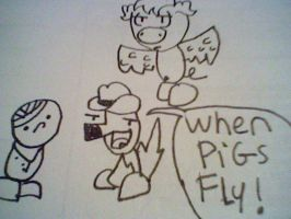 Redraw: When pigs fly by Burnzy69