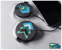 ''Any direction'' Clip-on headphones by Ketchupize