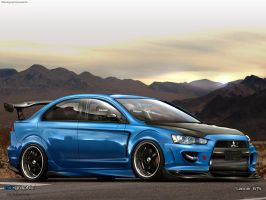 Mitsubishi Lancer X by edcgraphic