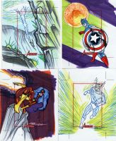 Marvel Greatest Heroes cards 3 by TomKellyART