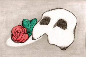 The Mask and Rose of a Phantom by Creepyland