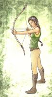 Katniss Everdeen by achelseabee