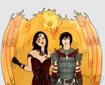 Bethany and Rogue Hawke for Berserker79 by Billini