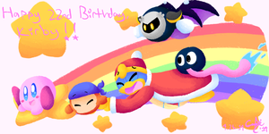 Happy 22nd Birthday Kirby by CinnamonMuffins