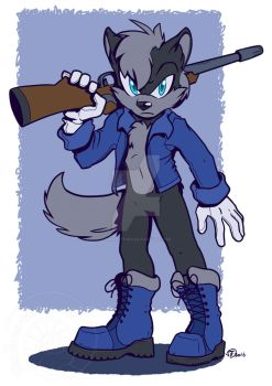 [COMMISSION] Axis the Wolf by Swirlything