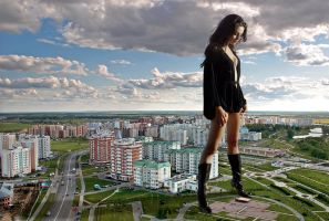 Mila Kunis in Russia by Accasbel