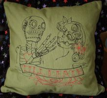 Till Death Cushion by sacredstitches
